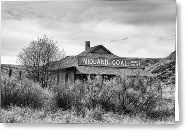 Best Sellers -  - Mining Photos Greeting Cards - Midland Coal Mining Co. Greeting Card by Guy Whiteley