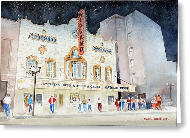 Cause Greeting Cards - Midland Theatre Greeting Card by Monte Toon