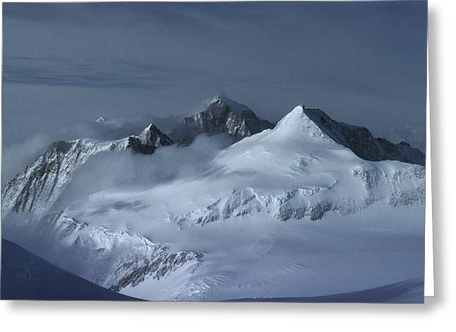 Tyree Greeting Cards - Midnigh Tview From Vinson Massif Greeting Card by Colin Monteath