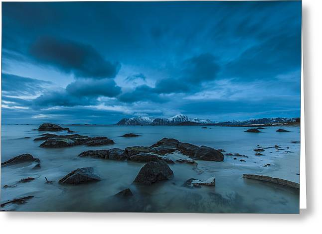 Lofoten Greeting Cards - Midnight at Eggum Greeting Card by Andy Bitterer