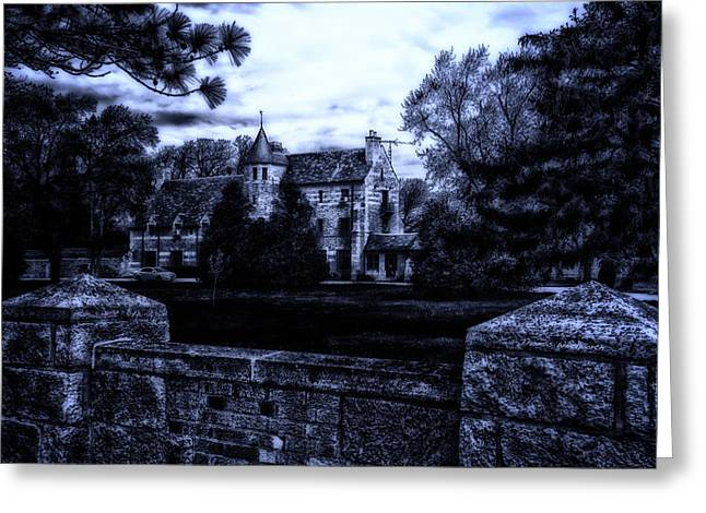Surreal Landscape Greeting Cards - MidNight At The Prison Greeting Card by Thomas Woolworth
