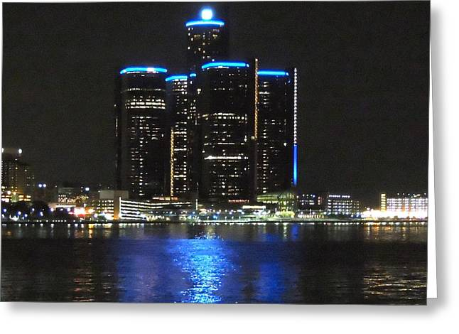 Renaissance Center Greeting Cards - Midnight Blue Greeting Card by Natasha Anderson