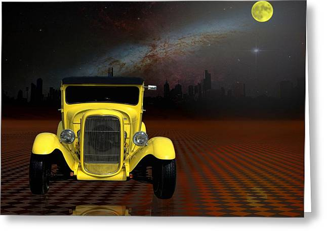 Model A Sedan Greeting Cards - Midnight Cruise Greeting Card by Tim McCullough