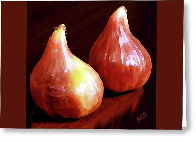 Figs Greeting Cards - Midnight Figs Greeting Card by Ben and Raisa Gertsberg