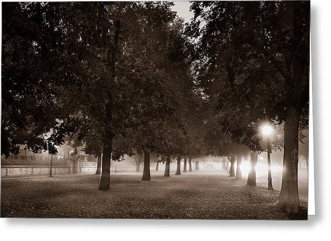 Misty Greeting Cards - Midnight in the Garden of Good and Evil Greeting Card by Chris Bordeleau