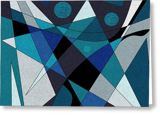 Midnight Jazz Greeting Card by Val Arie