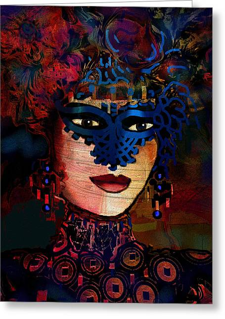 Midnight Lady Greeting Card by Natalie Holland
