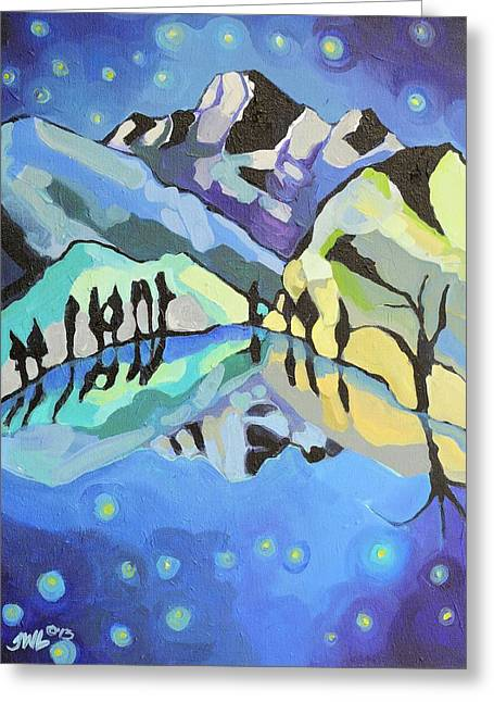 Winter Night Greeting Cards - Midnight Magic Greeting Card by Jessi West Lundeen