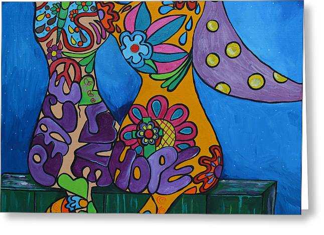 Flowers On A Fence Greeting Cards - Midnight Magic Greeting Card by Stacey Robinson