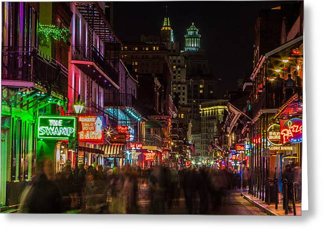 Best Sellers -  - Saloons Greeting Cards - Midnight on Bourbon Street Greeting Card by John McGraw