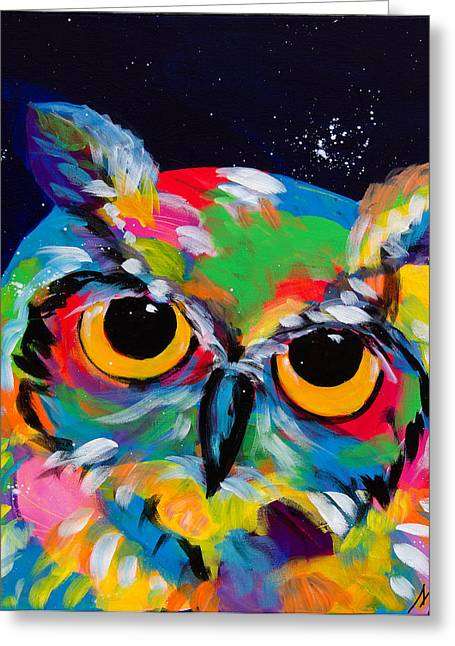 Colorado Artist Tracy Miller Greeting Cards - Midnight Owl Greeting Card by Tracy Miller