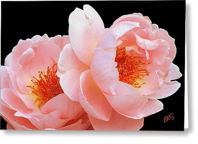 Midnight Roses Greeting Card by Ben and Raisa Gertsberg