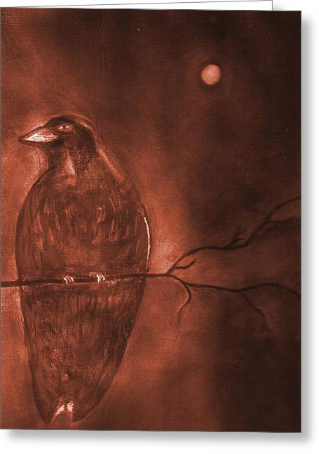 Midnight Solitude Greeting Card by Noreen  Withrow Roux