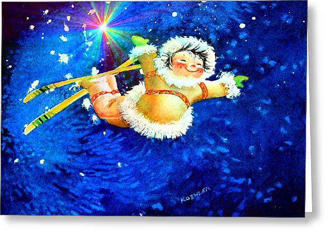 Kids Books Paintings Greeting Cards - Midnight Sun Flyer Greeting Card by Hanne Lore Koehler