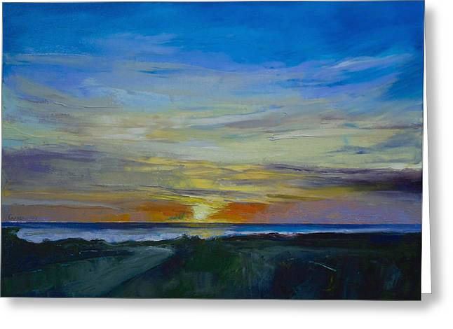 Marino Greeting Cards - Midnight Sun Greeting Card by Michael Creese