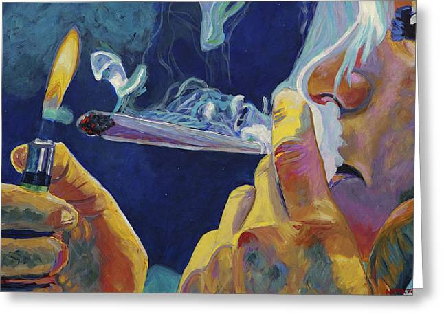Joint Greeting Cards - Midnight Toker Greeting Card by Anita Toke