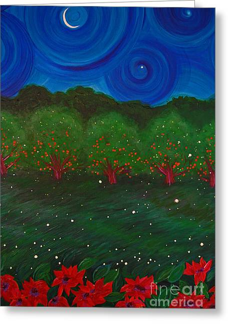 Fruit Tree Art Greeting Cards - Midsummer Night by jrr Greeting Card by First Star Art