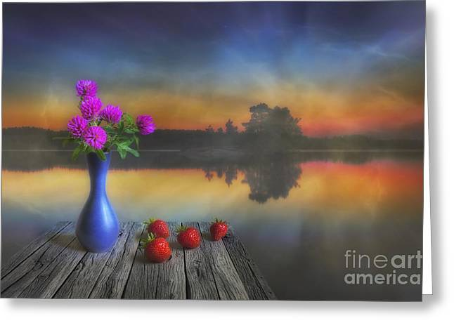 Multicolored Digital Greeting Cards - Midsummer Greeting Card by Veikko Suikkanen