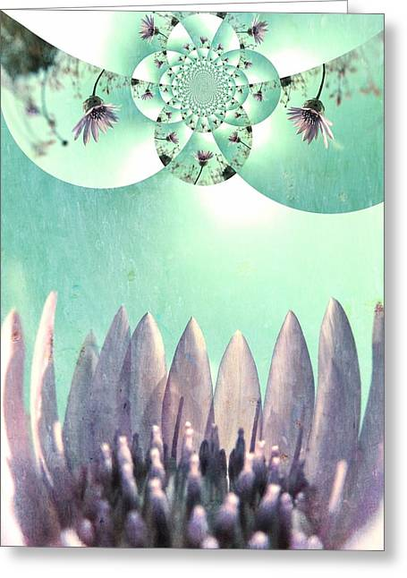 Lilac Digital Art Greeting Cards - Midsummer Vision Greeting Card by Marianna Mills