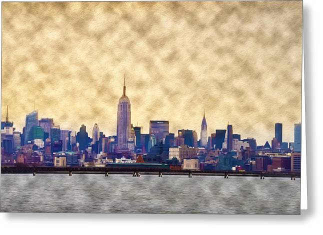 Midtown Digital Art Greeting Cards - Midtown Greeting Card by Bill Cannon