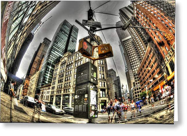 Midtown Greeting Cards - Midtown Manhattan 2 Greeting Card by Mike Lindwasser Photography