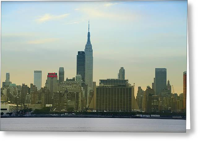 Midtown Digital Art Greeting Cards - Midtown Manhattan Cityscape Greeting Card by Bill Cannon