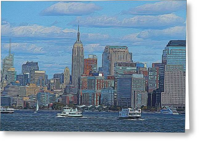 Chelsea Greeting Cards - Midtown Manhattan Greeting Card by Dan Sproul