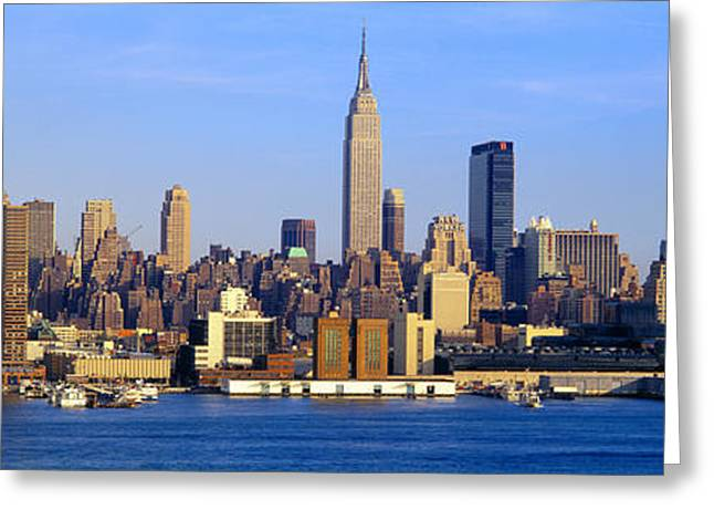 N.y. Greeting Cards - Midtown Manhattan From New Jersey Greeting Card by Panoramic Images