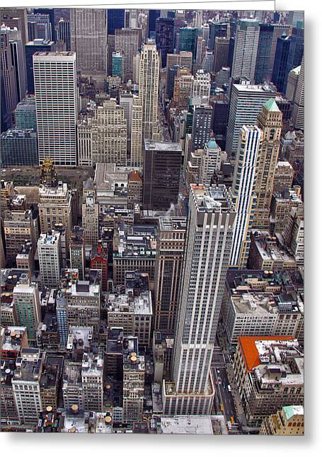 Midtown Greeting Cards - Midtown Manhattan Greeting Card by Mitch Cat