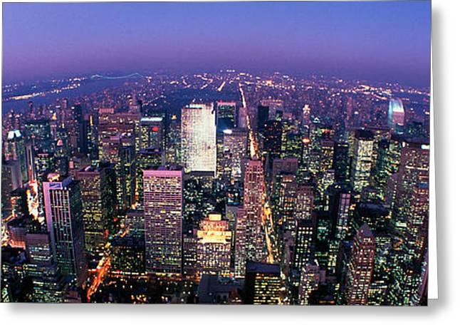 Corporate Business Greeting Cards - Midtown Manhattan, New York, Nyc, New Greeting Card by Panoramic Images