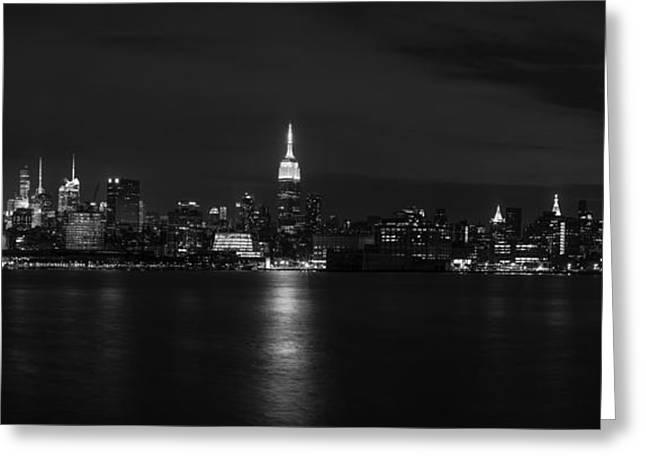 Road Travel Greeting Cards - Midtown Manhattan Skyline Greeting Card by David Morefield