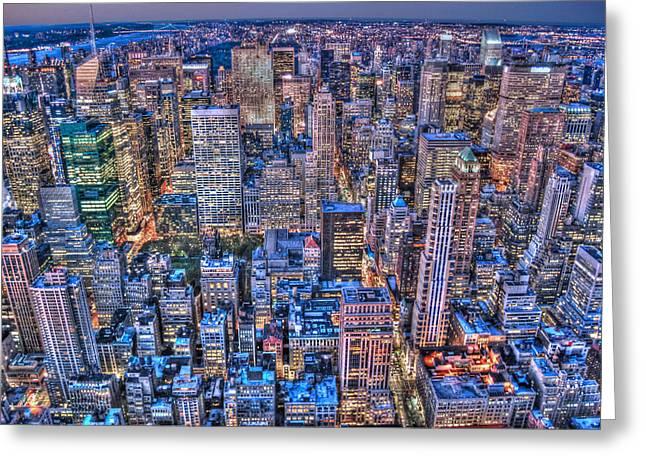 Midtown Greeting Cards - Midtown Manhattan Skyline Greeting Card by Randy Aveille