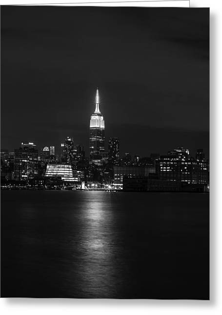 Road Travel Greeting Cards - Midtown Manhattan Skyline Triptych Middle Greeting Card by David Morefield