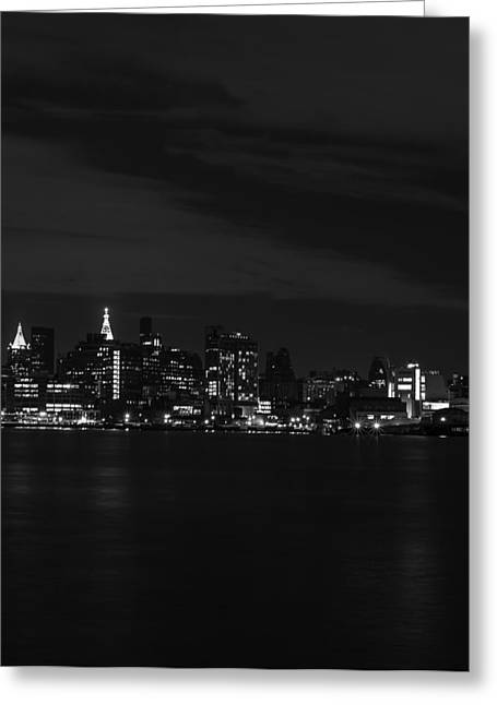 Street Greeting Cards - Midtown Manhattan Skyline Triptych Right Greeting Card by David Morefield