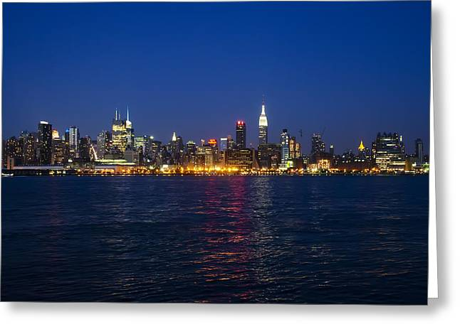 Midtown Digital Art Greeting Cards - MidTown Manhattan Skyline View Greeting Card by Bill Cannon
