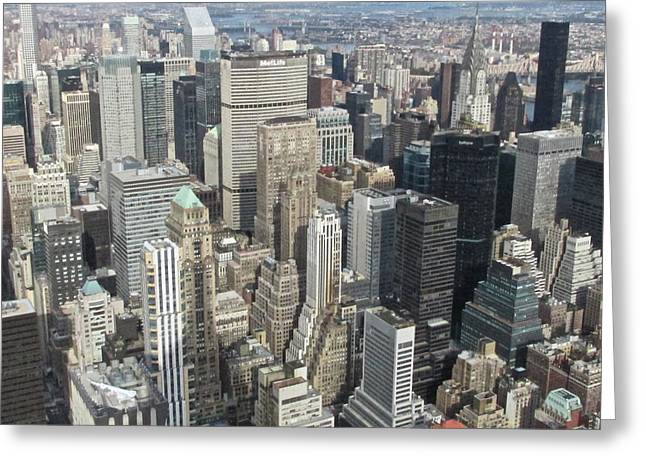River View Greeting Cards - Midtown Manhattan Greeting Card by Steven Lapkin