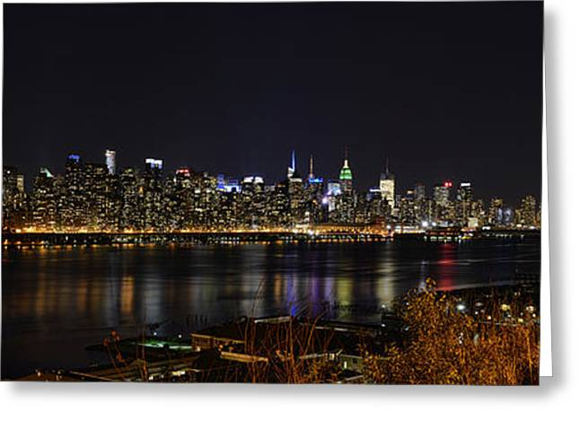 Mark Whitt Photography Greeting Cards - Midtown Manhattan to the Tribute Lights Greeting Card by Mark Whitt