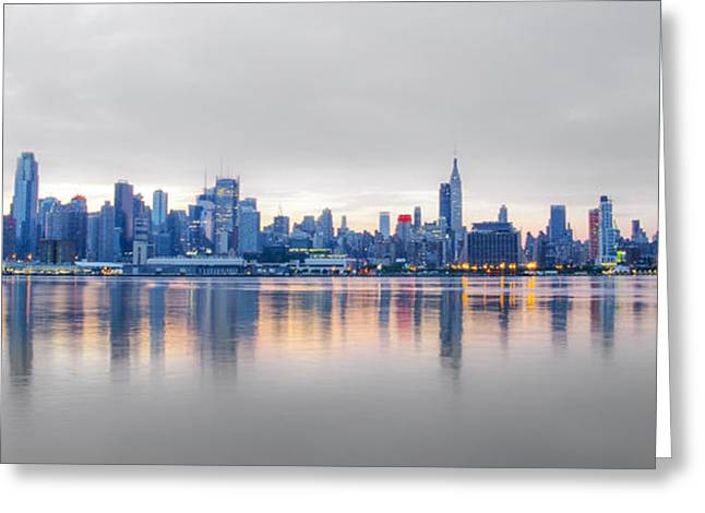 Midtown Digital Art Greeting Cards - Midtown Morning Greeting Card by Bill Cannon