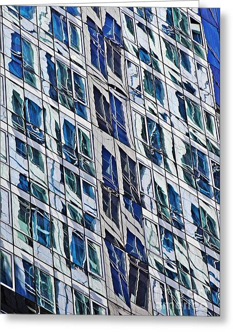 Midtown Greeting Cards - Midtown Reflections 10 Greeting Card by Sarah Loft