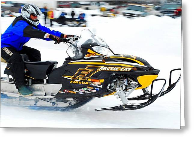 Ski Racing Art Greeting Cards - Midway BC Snow Drags - 26 Greeting Card by Don Mann