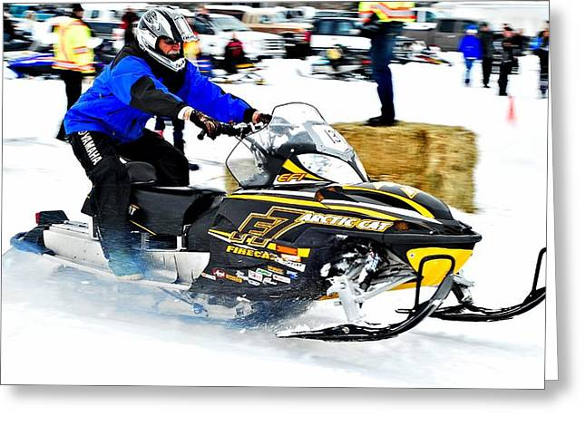 Ski Racing Art Greeting Cards - Midway BC Snow Drags - 27 Greeting Card by Don Mann