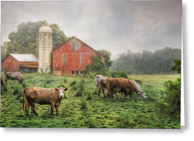 Barn Digital Greeting Cards - Mifflintown Farm Greeting Card by Lori Deiter