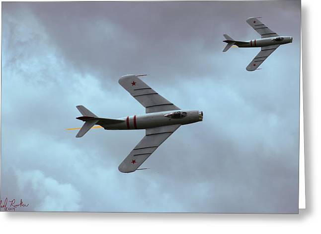 Randy Greeting Cards - Mig-17 F Greeting Card by Michael Rucker