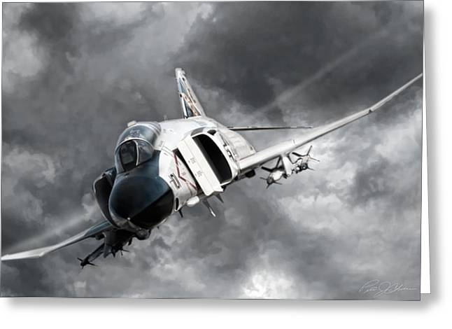 Phantom Dog Greeting Cards - MiG Killer 2 Greeting Card by Peter Chilelli