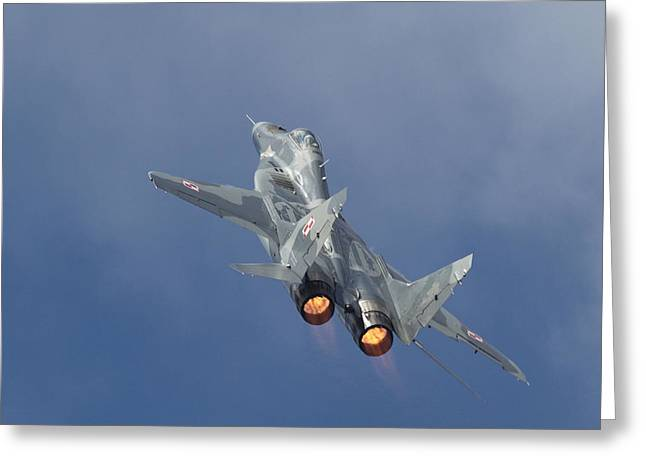 Fighter Aircraft Greeting Cards - Mig29 - Fulcrum Greeting Card by Pat Speirs