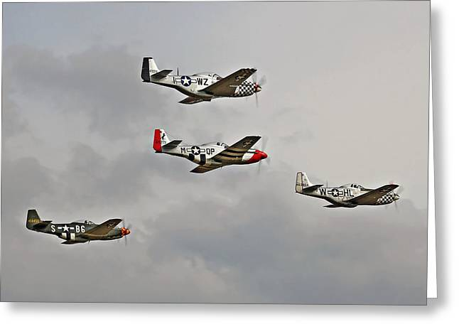 Mighty 8th P51 Mustangs  Greeting Card by Pat Speirs