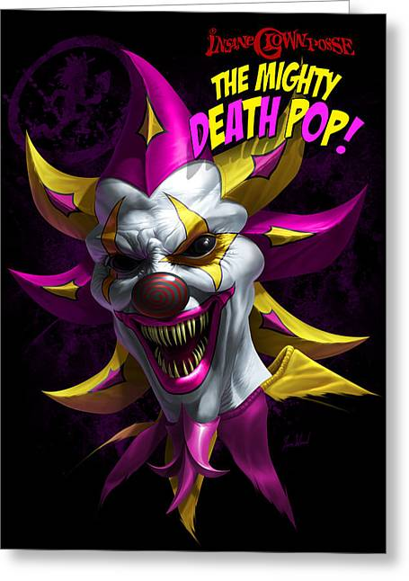 Posse Greeting Cards - Mighty Death Pop Greeting Card by Tom Wood