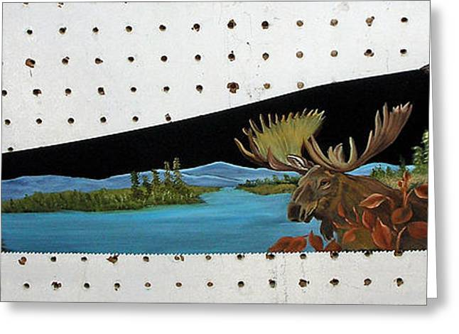 Saw Greeting Cards - Mighty Moose Greeting Card by Darlene Prowell