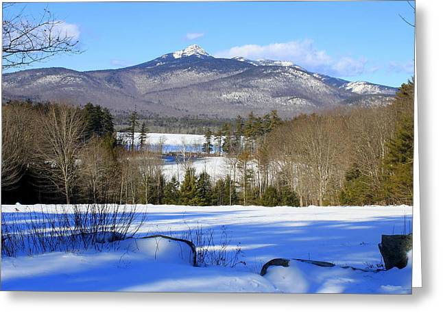 Mt Chocorua Greeting Cards - Mighty Mt. Chocorua 2013 Greeting Card by Suzanne DeGeorge