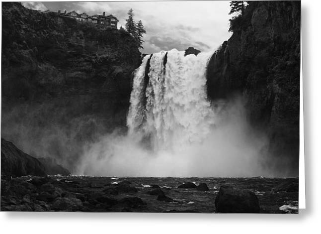 Mighty Snoqualmie Greeting Card by Mark Kiver